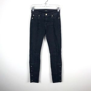 7 For All Mankind Button Leg Skinny Jeans - 26